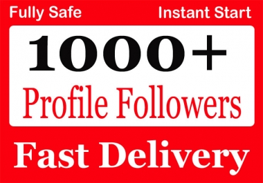 Add 1000+ High Quality Social Profile Followers