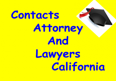 Email Address of Attorney & Lawyers in California