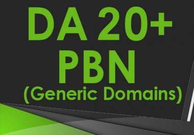 Build 12 High DA PA 20+ Guaranteed PBN Backlinks