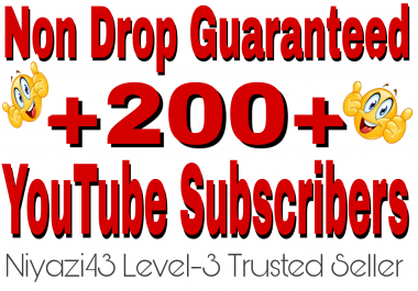 220+ YouTube channel subscribers non drop guaranteed with fast delivery within 6 hours or less