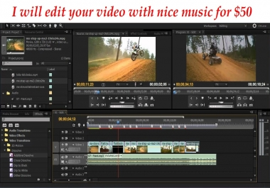 Edit your video with nice music