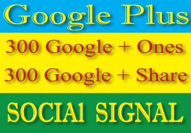 Google Plus 600 SEO Signal And Social Signals- High Authority Google Plus 300 Share Signals and 300 One Signals Manually For your Website/Videos Ranking Naturally