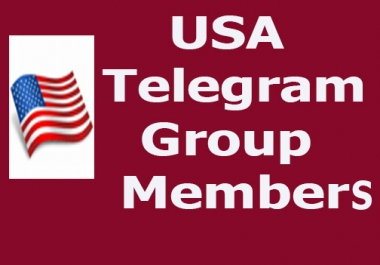 Buy 5000+ USA & World Wide Telegram group members very fast delivery