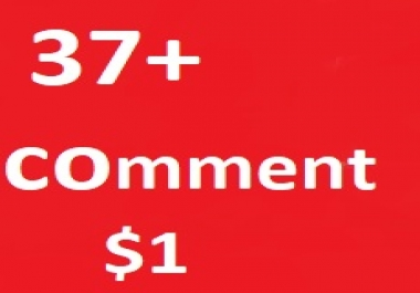 Guaranteed 37+ Real Non drop YouTube custom comments Super Fast 1-3 Hours