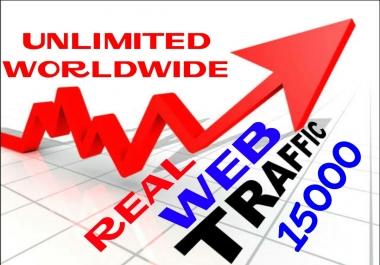 Provide 15000++ Real Human Web Traffic