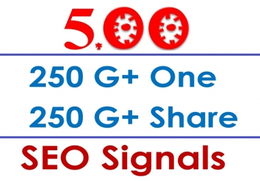 SuperPower 500 Google Social Signals- Get 250 Google Plus SEO One Signals + 250 SEO Share Signals Improve Your Website Ranking