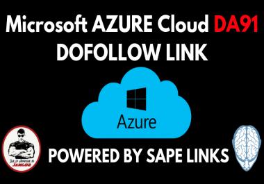 Microsoft Azure DA91 DoFollow Contextual Backlink Powered by SAPE Links