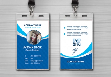 Professional Id Card Design Within 24 Hours