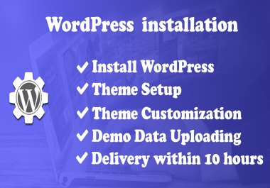 I will able to do WordPress installation and On-page SEO setup