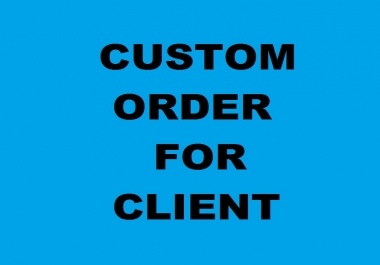 custom offer for according to client
