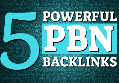 5 High DA/PA 50+ Permanent Homepage PBN Links - ULTIMATE RANK BOOSTER