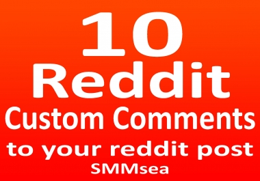 Give 10 Reddit Comments To Your Post With Real Accounts