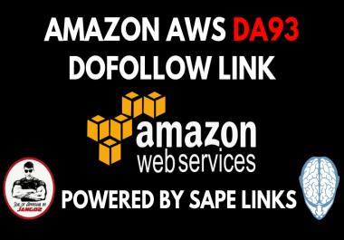 Amazon Web Services DA93 Permanent Contextual Backlink