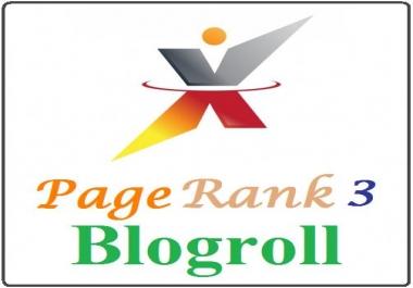 add your link to blogroll 3x websites Backlink