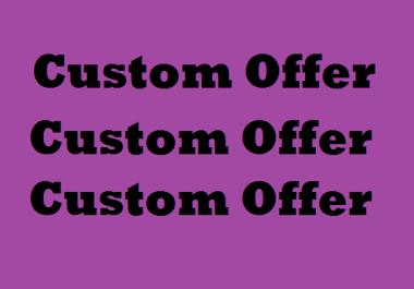 Custom offer SMM Promotion Service by regular buyer