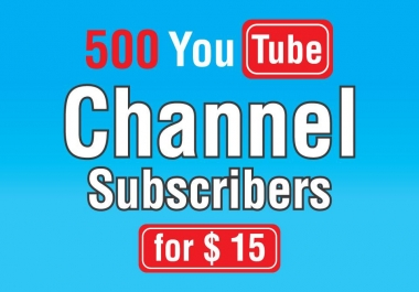 500 High quality youtube promotion and permanent with fastest delivery