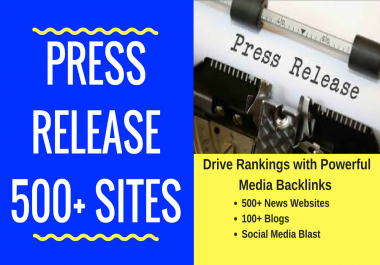 Awesome Press Release Service to Build Backlinks and Promotion