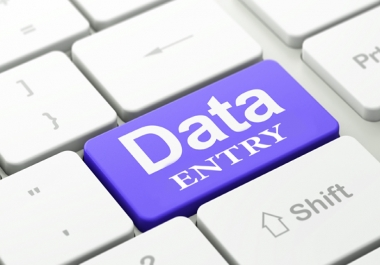 Provide you online and offline data entry jobs