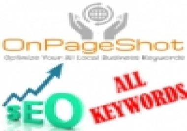 2500+ Keywords - Highly Intensive SEO Shot - Dominate Locally - Boost Your Website's Ranks For Hundreds of Keywords on Google's Top Pages- Explode With 2500+ Keywords Optimization