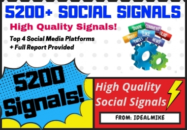 5200+ Mixed Platform Permanent Social Signals Rank Higher with Signals!