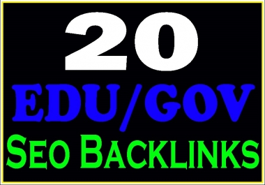 Create manually 20 Edu-Gov safe high PR seo backlinks