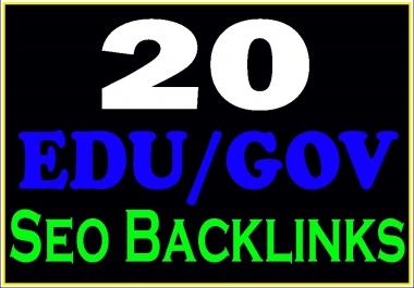 Create manually 20 Edu/Gov safe high PR seo backlinks