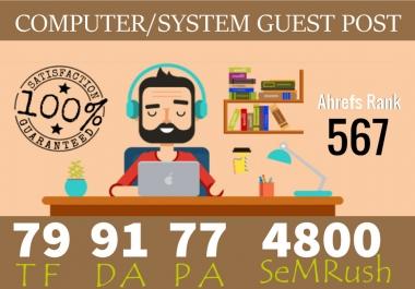 Publish Guest Post On Computer System Niche Da 91 Pa 77