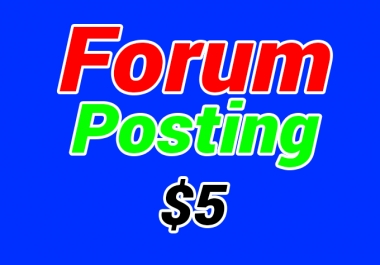 Do 100 forum posting backlinks manually