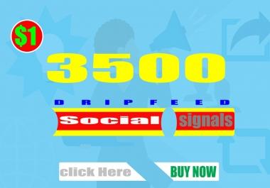 Quality Backlinks Quantity  3500 Social Signals Top-4 Sites Improvment web