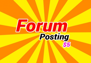 Do 100 forum posting backlinks manually HQ DA/PA