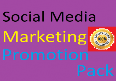 Social Media Marketing Promotion Pack like, video views and more