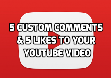 5 Custom Comments and 5 Links on Your YouTube Video