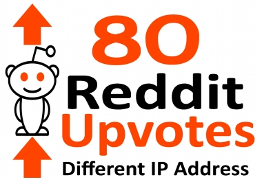 Instant Start 80 Real Reddit Upvotes Using Different IP Address