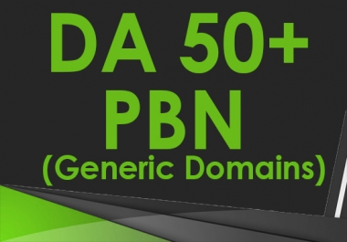 Create 8 DA 50+ Homepage PBN Backlinks