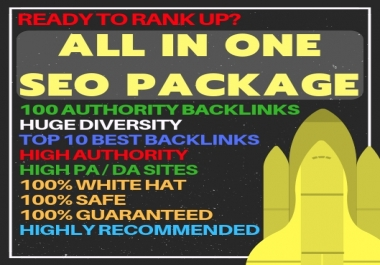 All-in-one SEO Package - Best SEO Package Link Building Service - Improve your SERP Rankings!
