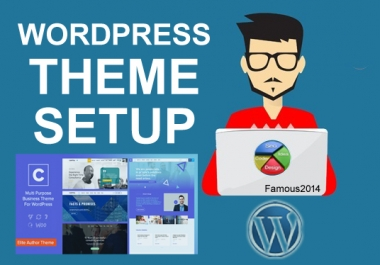 Install and configure any WordPress theme to your sites