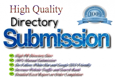Manually I Will Give You 40 Directory Submission