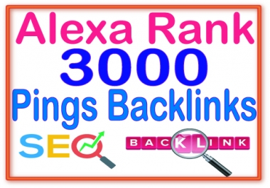 3000+ Pinkgs Of High Quality backlinks for your URL and keywords