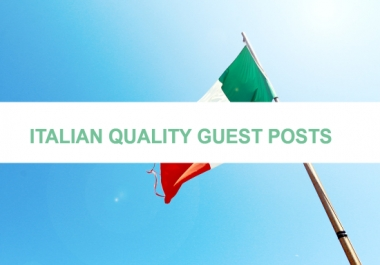 High Quality Real Outreach Italian Guest Post Link