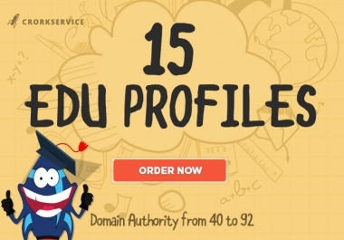 15 EDU Profiles - Most Trusted SEO Backlinks
