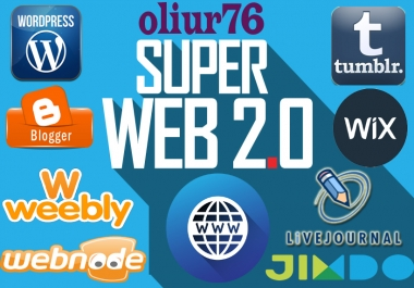 Manually create 10 super web 2.0 blog with powerful contextual backlinks and login