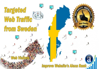 Sweden web visitors Real targeted High Quality web traffic
