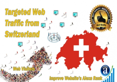 Switzerland web visitors Real targeted High Quality web traffic
