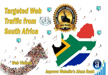 South Africa web visitors Real targeted High Quality web traffic