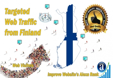 Finland web visitors Real targeted High Quality web traffic