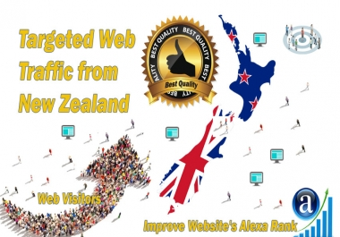 New Zealand web visitors Real targeted High Quality web traffic