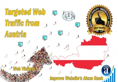 Austria web visitors Real targeted High Quality web traffic
