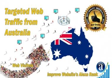 Australia web visitors Real targeted High Quality web traffic