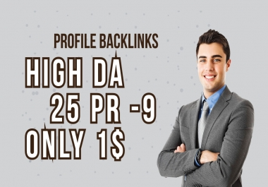 Manually DA 80+ All Pr9 25 Safe SEO High Profile Backlinks