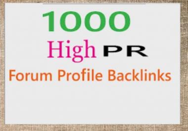 1000 High PR Forum Profile Backlinks